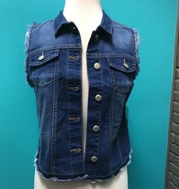 Vest Distressed Denim Vest