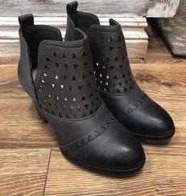 Boot Grey Cutout Side Cut Booties