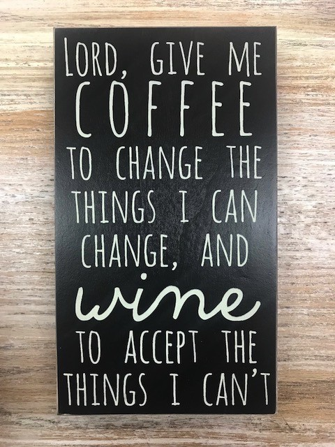 Decor Give Me Coffee Box Sign 10.5x6