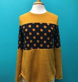 Sweater Polka Dot Detail Sweater