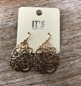 Jewelry Gold Swirl Earrings
