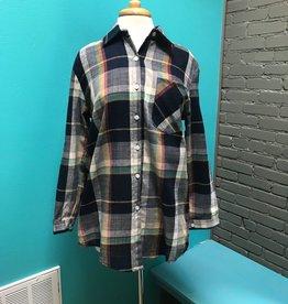 Shirt Multi- Colored plaid button up shirt