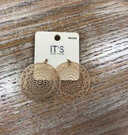 Jewelry Gold Web Earrings
