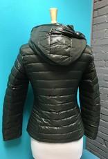 Zip Up Bloom in Love, Olive hooded jacket