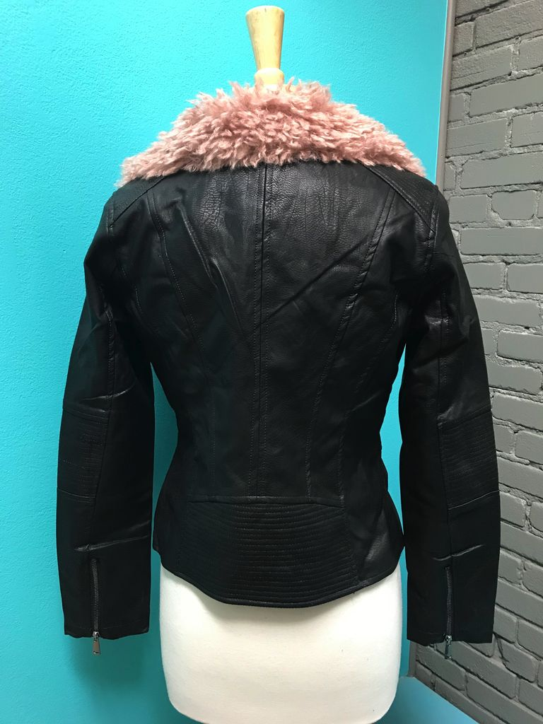 Jacket black/rose Lost Faux Words Jacket