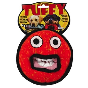 Tuffy Tuffy Durable Dog Toy, Alien Ball, Red
