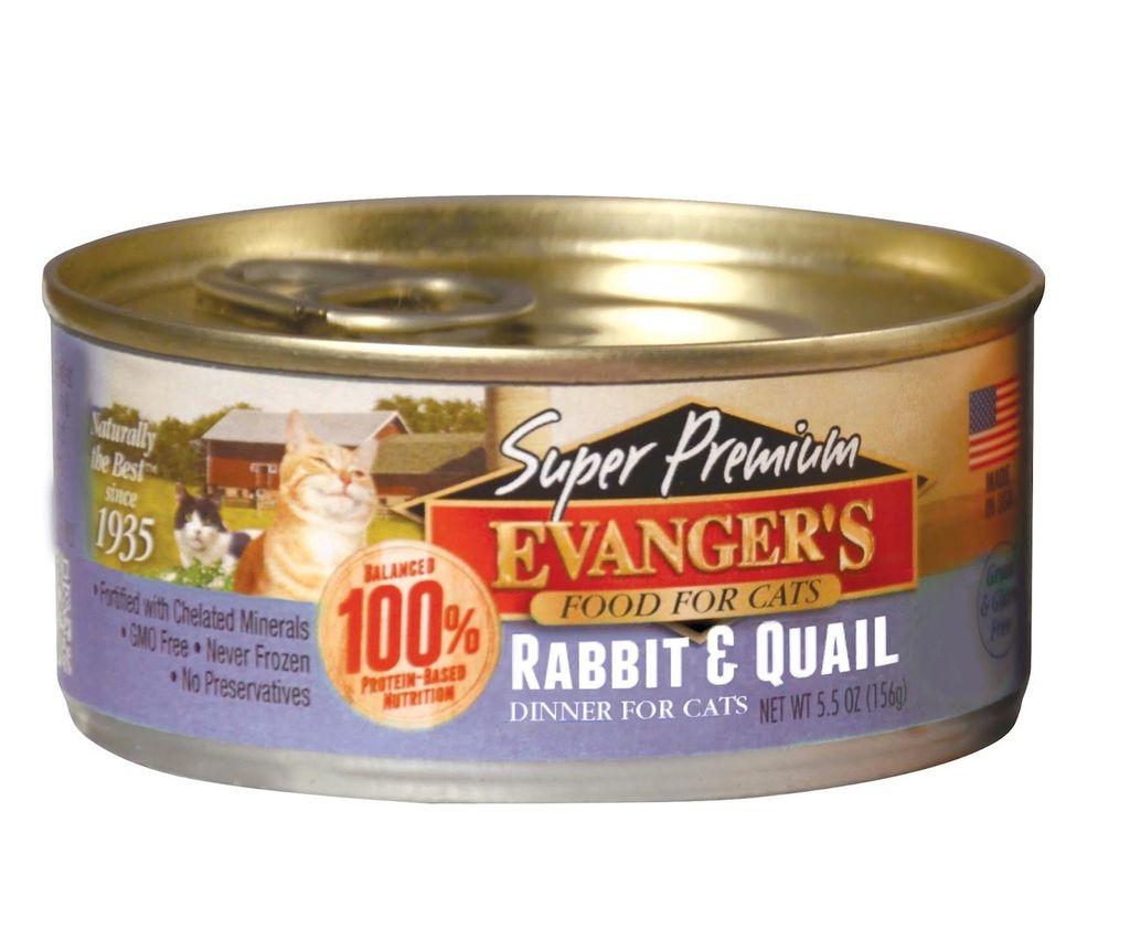 Evanger Evanger's Super Premium Rabbit & Quail Dinner, 5.5 oz can