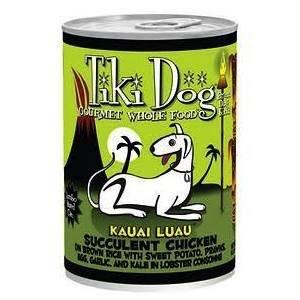 Tiki Tiki Dog Kauai Luau Chicken on Rice with Tiger Prawns Canned Dog Food, 14 oz can