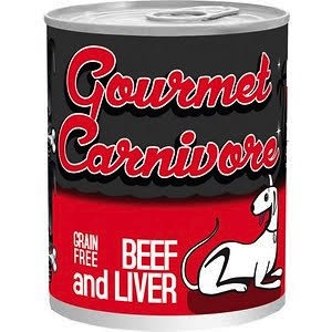 Tiki Tiki Dog Gourmet Carnivore Beef & Liver Canned Dog Food, 12 oz can