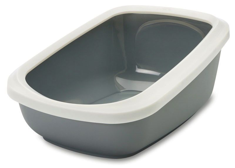 Savic Savic USA - Aseo Open Litter Box, Grey, Jumbo