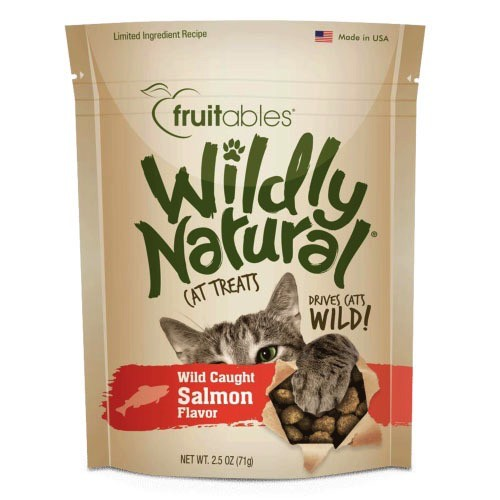 Fruitables Fruitables Wildly Natural Cat Treats, 2.5oz, Salmon