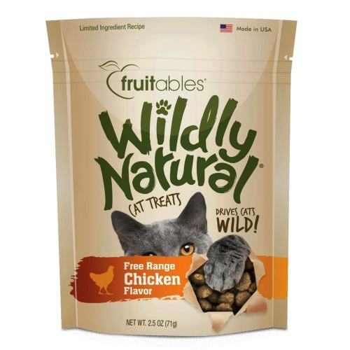 Fruitables Fruitables Wildly Natural Chicken Cat Treats, 2.5 oz bag