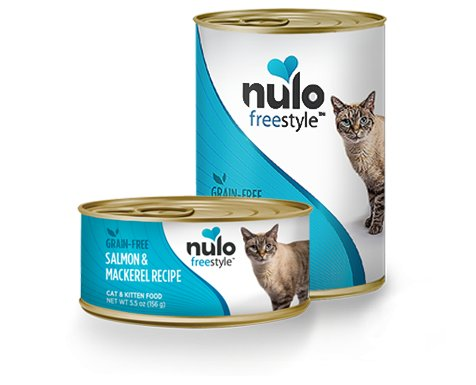 Nulo Nulo Freestyle Salmon & Mackerel Canned Cat & Kitten Food, 5.5 oz can