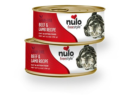 Nulo Nulo Freestyle Beef & Lamb Canned Cat & Kitten Food, 5.5 oz can