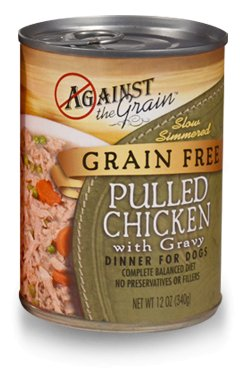 Against the Grain Against the Grain Hand Pulled Chicken with Gravy Canned Dog Food,12oz, 12ct