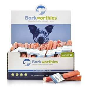 Barkworthies Barkworthies Odor-Free Double Cut Bully Stick Dog Treat, 6""