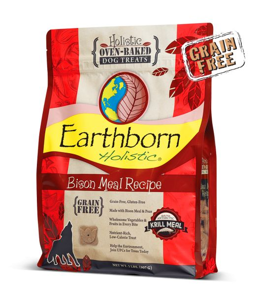 Earthborn Earthborn Holistic Grain-Free Bison Meal Recipe Dog Treats, 14 oz bag