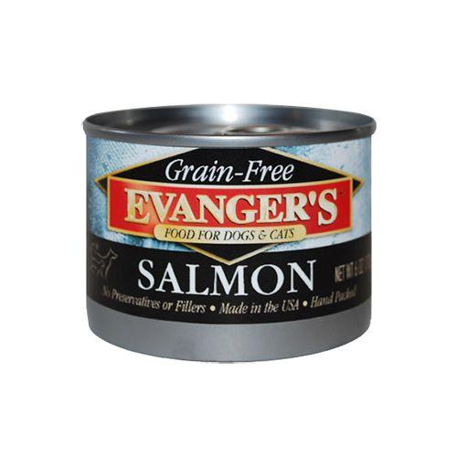Evanger Evanger's GF Wild Salmon Canned Dog & Cat Food, 6oz, 24ct