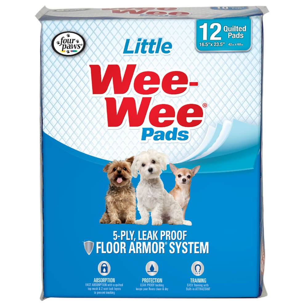 Four Paws Four Paws Wee-Wee Little Dog Housebreaking Pads,12ct