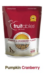 Fruitables Fruitables Pumpkin & Cranberry Flavor Crunchy Dog Treats, 7oz bag