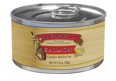 Hound & Gatos Hound & Gatos Feline Salmon, 5.5 oz can