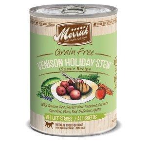 Merrick Merrick Classic Grain-Free Venison Holiday Stew Canned Dog Food, 13.2oz, 12ct