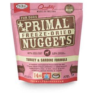 Primal Primal Turkey & Sardine Formula Nuggets Freeze-Dried Dog Food-14 oz bag