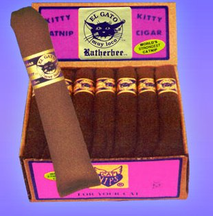 "Rather Bee Catnip Toys Ratherbee Organic Catnip Cigar, 7"""