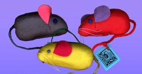 "Rather Bee Catnip Toys Ratherbee Le Mouse 4"" Velour"