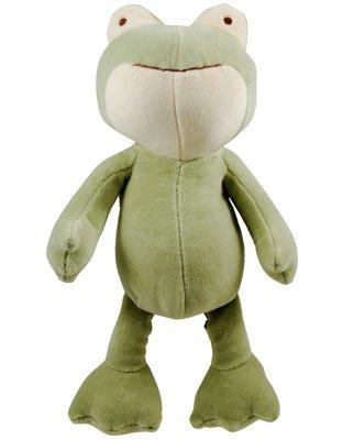 "Simply Fido Simply Fido Eddie Green Frog, 10"", Squeaker"