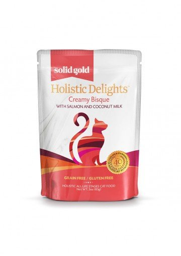 Solid Gold Solid Gold Grain Free Holistic Delights Creamy Cat Food Pouches