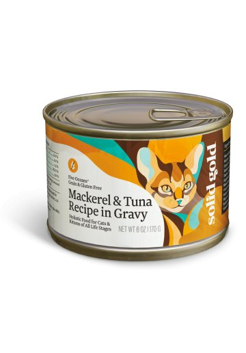Solid Gold Solid Gold Mackerel and Tuna Recipe in Gravy Cat Can Food