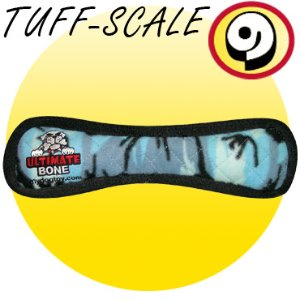 Tuffy Tuffy's Ultimate Bone Dog Toy, Blue