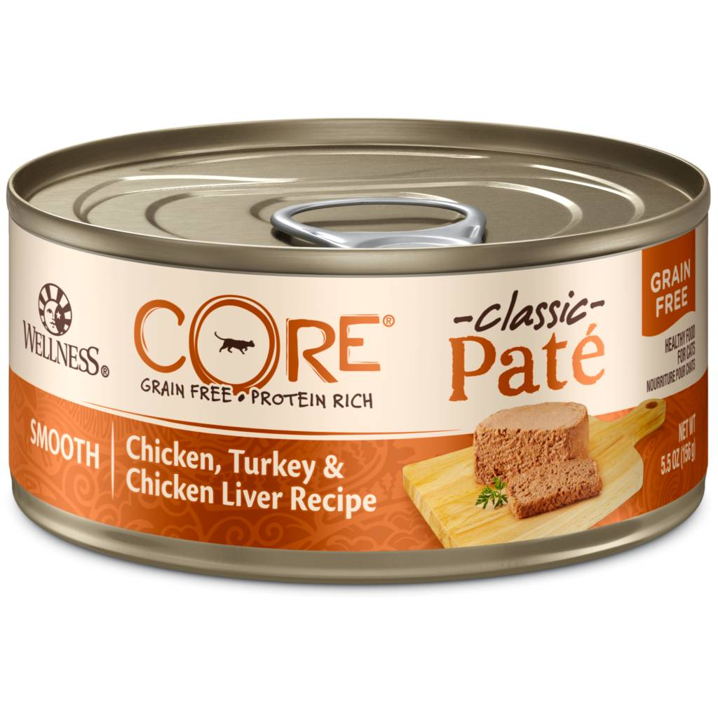 Wellness Wellness Core Chicken, Turkey, and Chicken Liver Formula Cat Can Food, 5.5 oz can