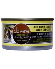 Dave's Dave's Ahi Tuna Dinner with Chicken Cat Can Food, 5.5 oz can