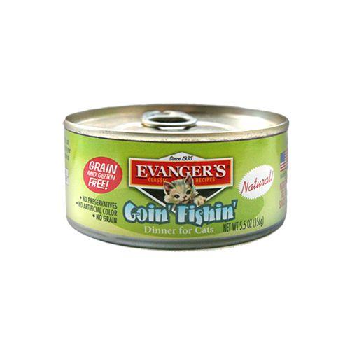 """Evanger Evanger's """"Going Fishin"""" Cat Classic Dinner, 5.5 oz can"""