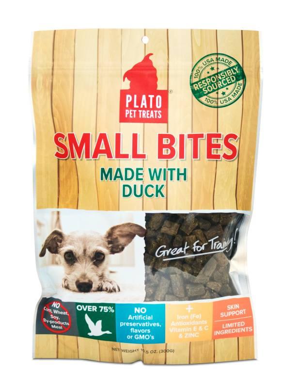 Plato Plato Small Bites Slow Roasted Duck Dog Treats, 10.5oz bag