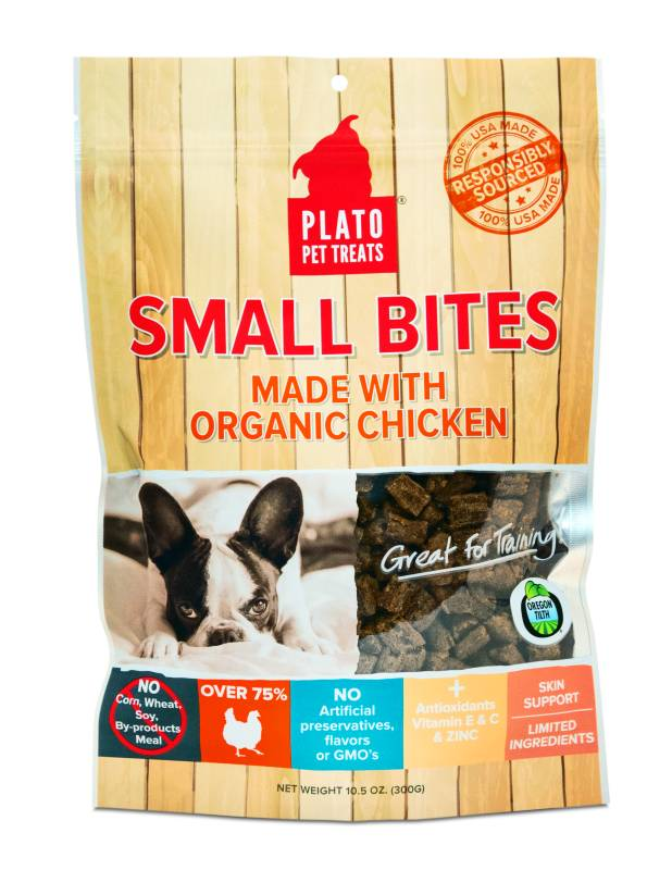 Plato Plato Organic Chicken Dog Treats, 16oz bag
