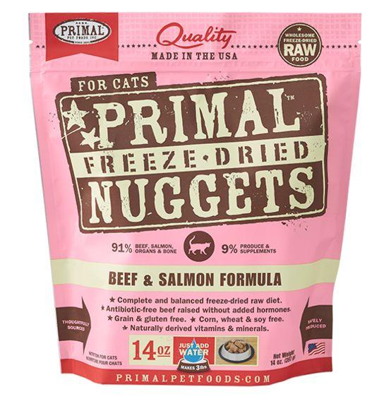 Primal Primal Beef & Salmon-Freeze Dried Formula- Cat, 14 oz bag