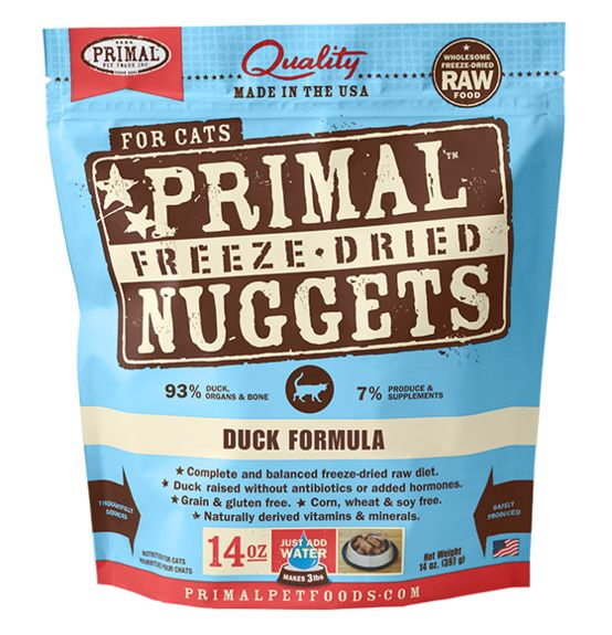 Primal Primal Raw Frozen Feline Duck Formula, 3# bag