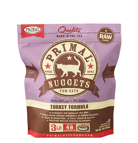Primal Primal Frozen Feline Turkey Formula 3# bag