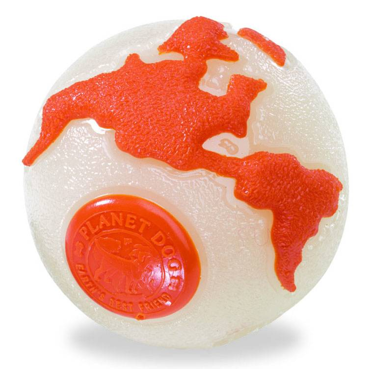 Planet Dog Planet Dog Orbee Ball Tuff Glow/Orange Medium