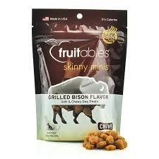 Fruitables Fruitables Skinny Minis Chewy Grilled Bison Treats, 5 oz bag