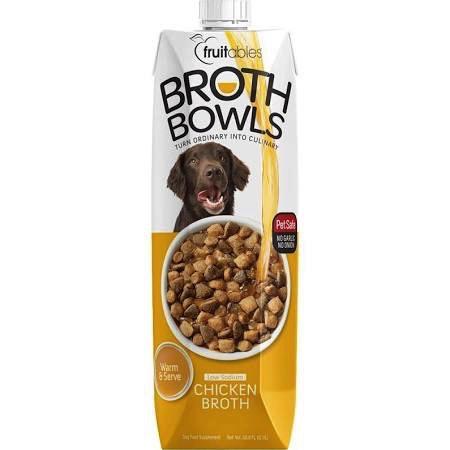 Fruitables Fruitables Dog Broth Bowl, Chicken, 16.9 oz
