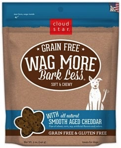 Cloud Star Cloud Star Wag More Bark Less Soft & Chewy Smooth Aged Cheddar, 5 oz bag