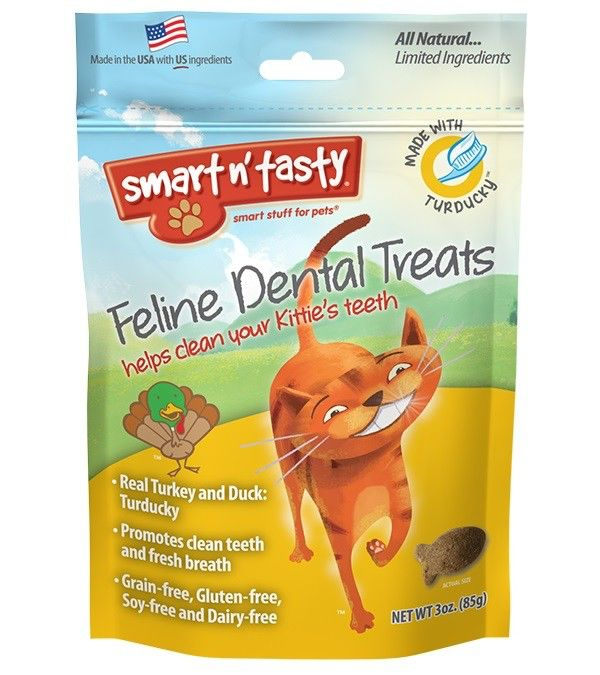Emerald Pet Emerald Pet Smart N Tasty Feline Dental Treats, Turducky Formula, 3 oz bag