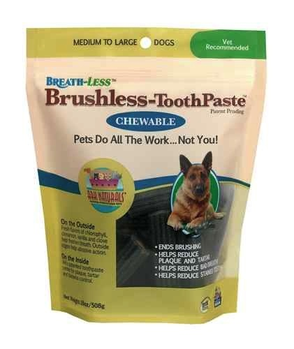 Ark Naturals Ark Naturals Breath-Less Chewable Brushless-Toothpaste M/L, 18 oz bag
