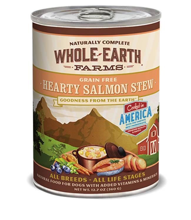 Whole Earth Farms Whole Earth Farms Hearty Salmon Stew Dog Food, 12.7 oz can