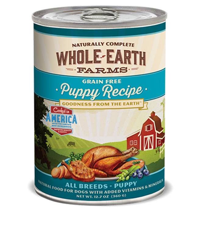 Whole Earth Farms Whole Earth Farms Puppy Recipe Dog Food, 12.7 oz can