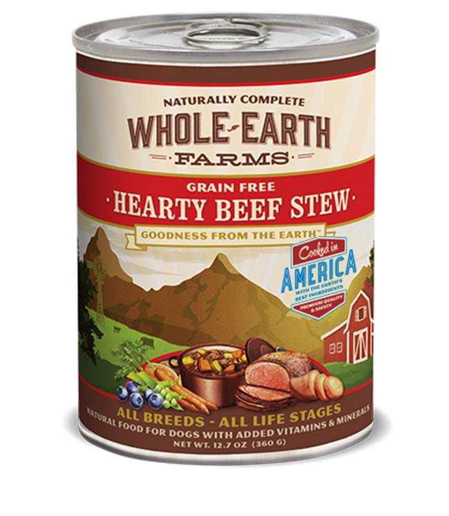 Whole Earth Farms Whole Earth Farms Hearty Beef Stew Dog Food, 12.7 oz can